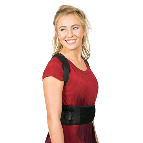 Back Brace Posture Corrector   Best Fully Adjustable Support Brace   Improves Posture and Provides Lumbar Support   For Lower and Upper Back Pain   Men and Women (L (30'' - 36'' waist)) by Flexguard Support (Image #8)