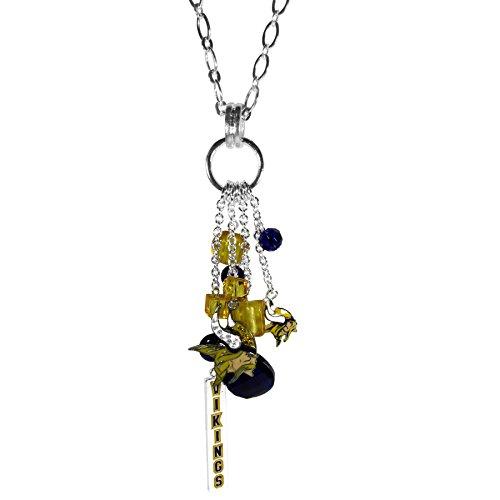 (Siskiyou NFL Minnesota Vikings Cluster Necklace,)