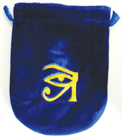 Terciopelo azul ojo de Horus Tarot bolsa: Amazon.es ...
