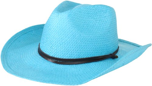 San Diego Hat Company Women's Soft Toyo Paper Cowboy Hat, Turquoise, One Size