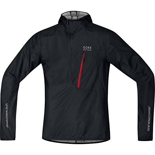 GORE BIKE WEAR Men's Rescue Bike Jacket, Extremely lightweight, Compact, GORE WINDSTOPPER, RESCUE WS AS Light Jacket, Size: L, Black, (Mens Technical Cycling Jackets)