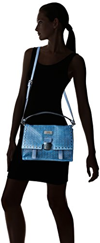 XTI 85936 - Borse Messenger Donna, Blu (Jeans), 29x22x11 cm (W x H L)