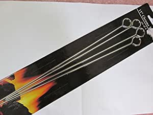"""Chrome Skewers, Set of Four, 14"""" long, Accessory for the Grill"""