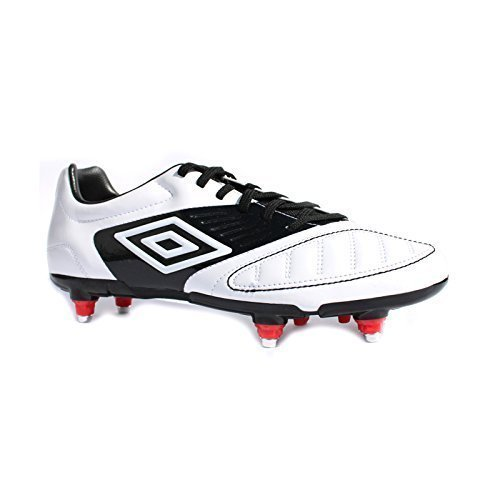 Umbro - Botas de fútbol para hombre - Black/White/Vivid Red