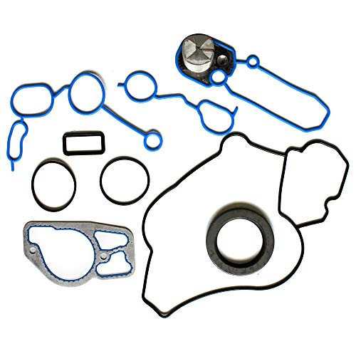 cciyu Engine Timing Cover Gasket Kit Replacement fit for 99-03 for Ford E-350 Club Wagon Ford E-350 Super Duty Ford Excursion Ford F-250 Super Duty Ford F-350 Super Duty (TCS45050,TC4200B) ()