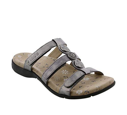 Taos Footwear Women's Prize 3 Pewter Sandal 6 M US