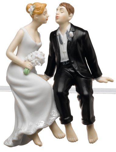 Weddingstar Whimsical Sitting Bride and Groom - (Caucasian Groom)