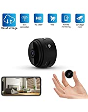 Mini Spy Camera, Kimfly Hidden Camera WiFi 1080P Home Wireless Security Portable Camera with Night Vision Cloud Storage Supported Motion Detection for Baby/Elder/Pet