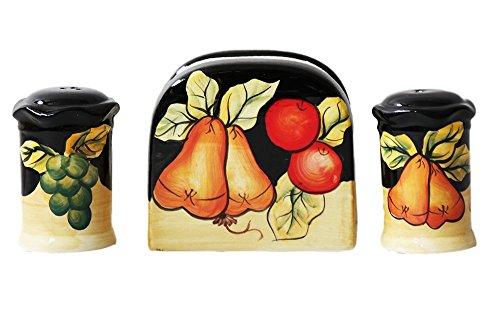 d Pepper Shakers with Napkin Holder (Pepper Fruit)