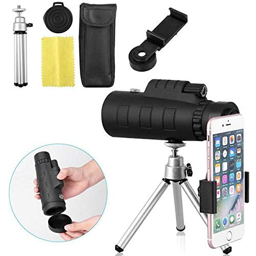 Cell Phone Camera Lens 40X60 Hd Portable Monocular Telescope Day/Night Vision Telephoto Lens Optical Prism Mobile Phone Camera Lens