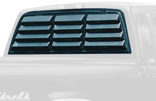 Willpak Industries 8060 ABS Classic Style Design Truck Rear Window Louver for (Truck Window Louvers)