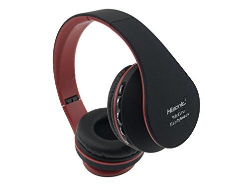 Auriculares de diadema Bluetooth Inalámbricos, Hisonic Auriculares con micrófono Auriculares Bluetooth de Diadema Plegable compatible con iPhone, android, ...