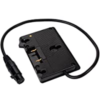 SOONWELL Anton Bauer Battery Plate Monitor Battery Pinch Power Supply Hanging Plate with Cannon 4-pin Plug