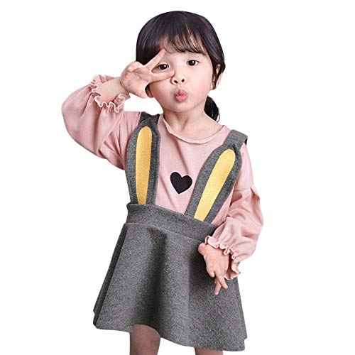FRana Toddler Girls Dress Tops+Bunny EarsTutu Skirt Infant Newborn Princess Dress Party Romper Skirts
