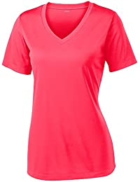 Women's Short Sleeve Moisture Wicking Athletic Shirts...