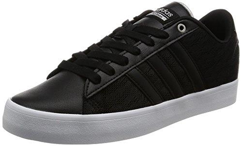 adidas Cloudfoam Daily Qt Lx W, Sneaker a Collo Basso Donna, Nero (Negbas/Negbas/Plamet), 36 EU