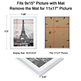 upsimples 11x17 Picture Frame Set of 5,Display