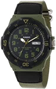 Casio Unisex MRW200HB-3BV Watch with Green Cloth Band