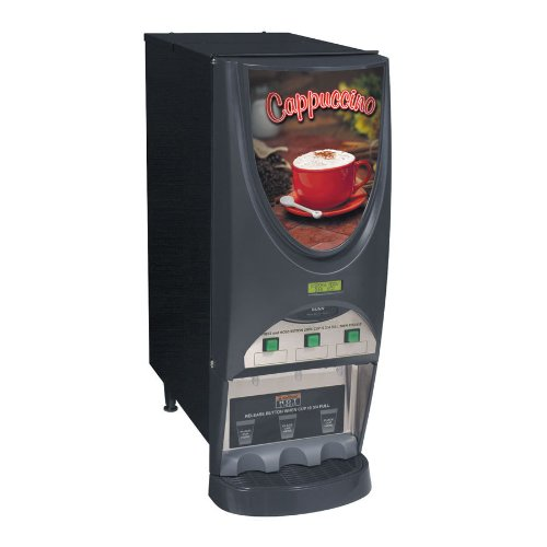 Bunn iMIX-3S+ BLK Powdered Cappuccino Dispenser with 3 Hoppers - 120V (Bunn - Dispenser Imix Cappuccino