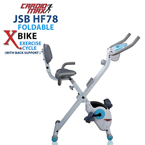 Cardio Max JSB HF78 Magnetic Upright Fitness X-Bike with Back...