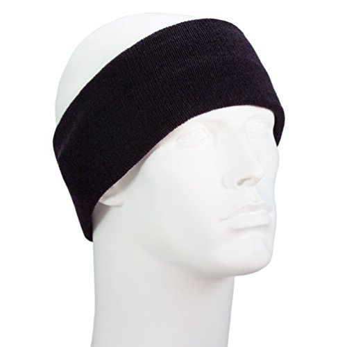 Bandana.com Black USA Made Stretch Headband - Dozen Packed