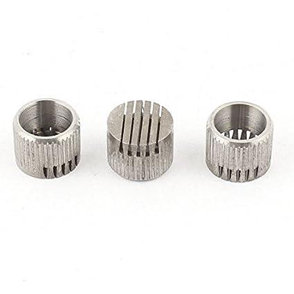 3pcs piezas de molde de acero inoxidable con ranuras de tipo núcleo Box Vents 10mmx8mm