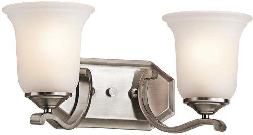 Kichler 45402CLP Bath Vanity Wall Lighting Fixtures, Classic Pewter 2-Light (16