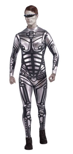 Robot Alien Costume (Forum Outta Space Male Robot Costume, Gray, One)
