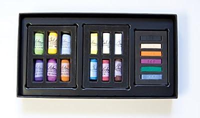 Jack Richeson 427340 Richeson Signature Pastels Signature Half Stick Sampler Set of 18