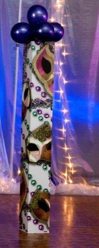 MARDI GRAS BEADS COLUMN (Cardboard Columns For Weddings)