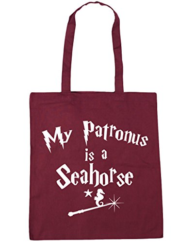 Beach x38cm Patronus My Bag 42cm Is A Gym litres Tote HippoWarehouse Burgundy Seahorse Shopping 10 RFSqHBww85