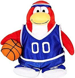 Disney Club Penguin 6.5 Inch Series 3 Plush Figure Basketball Player (Includes Coin with Code!) by Jakks Pacific