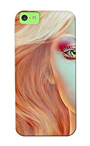 Ellent Design Blonde Beauty Case Cover For Iphone 5c For New Year's Day's Gift