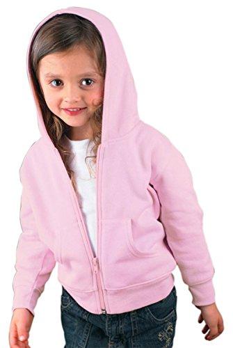 Rabbit Skins Toddler Full Zip Fleece Hoodie, Pink, 5/6T