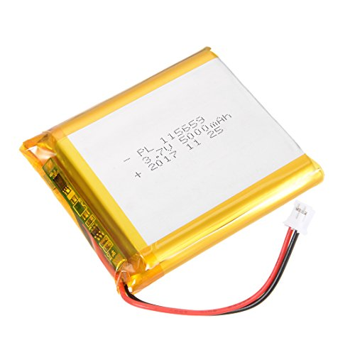 uxcell Power Supply DC 3.7V 5000mAh 115659 Li-ion Rechargeable Lithium Polymer Li-Po Battery