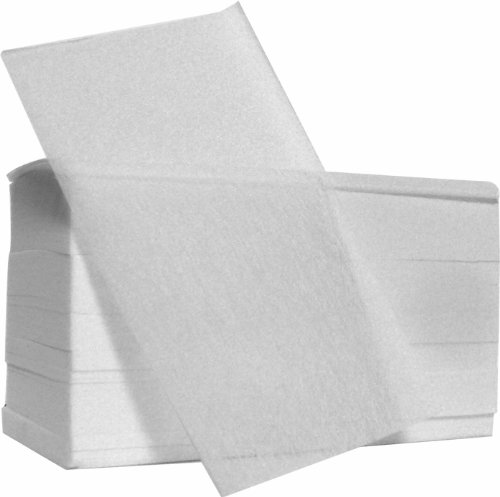 Fripac-Medis Fleece End Paper, White - Pack of 500 Sheets A-1270