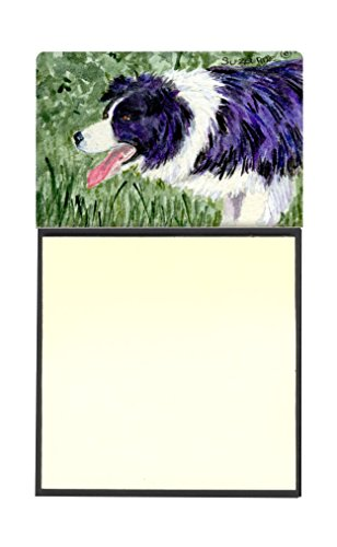 Caroline's Treasures SS8843SN Border Collie Refillable Sticky Note Holder or Postit Note Dispenser, 3.25 by 5.5
