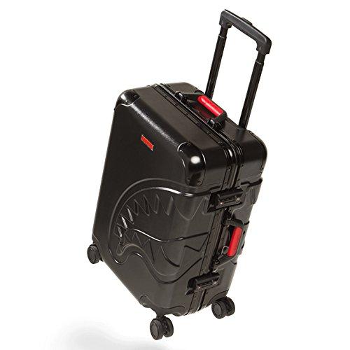 【CL24】 スプレーグラウンド SPRAY GROUND スーツケース キャリーバッグ 45L 機内持ち込み 旅行 出張 帰省 軽量 高機能 シャーク 正規品 (01)黒 Fサイズ B078FSVPVB