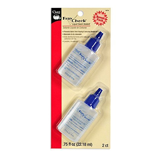 Dritz Fray Check Liquid Seam Sealant Glue Bonus Value Pack - 2 Bottles 3/4 Oz (Fray Check)