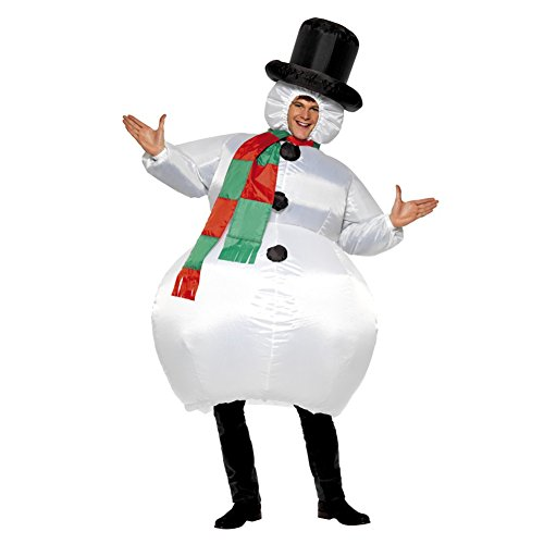 Harry Shops Christmas inflatable Snowman Costume Clothes Cosplay Costume -One Size (Mens Inflatable Sumo Costume)