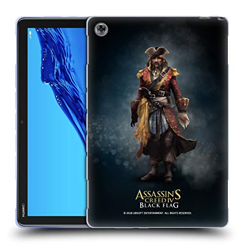Official Assassin's Creed Bartholomew Roberts Black Flag Characters Soft Gel Case for Huawei MediaPad M5 Lite