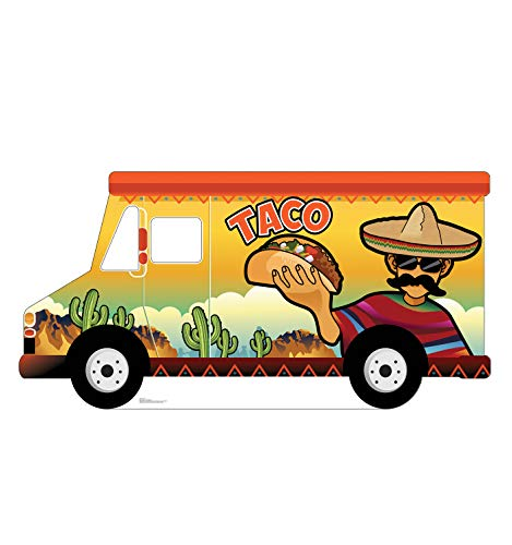 (Advanced Graphics Taco Truck Stand-in Life Size Cardboard Cutout Standup)