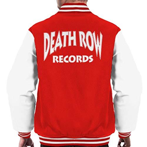 Death Row Records Logo White Men's Varsity Jacket (Varsity Jacket Tupac)