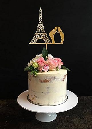 Romantique Tour Eiffel Decorations Pour Gateau De Mariage