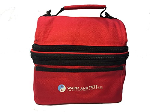 Adult/Kids Insulated Thermal Hot Cold Heated Lunch Box Bag Tote To Keep Lunch Food Warm 5 Hours Cold For 8 Hours - Women - Portable Eco Friendly- Red Perfecta (Insulated Hot Lunch Box compare prices)