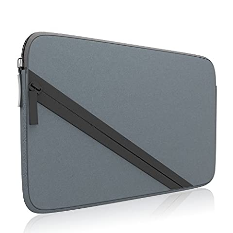 amCase Soft Sleeve Carrying Case compatible with Nintendo 2DS XL complete with accessory pocket for games and charging cable (3ds Xl Charging Case)