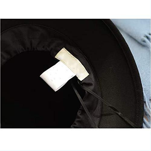 Cuenca E Retro Sólido Sombrero Otoño Color Hembra Negro Tapa Invierno Literario Versátil Pescador Hnazq