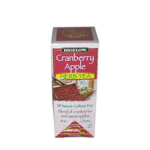 Tea Herb Cranberry Apple (Bigelow Cranberry Apple Herbal Tea (28 1.72 oz. bags))
