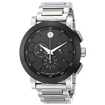 Movado Men's 606792 Museum Sport Chrono Analog Display Swiss Quartz Silver Watch