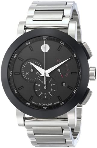 Movado Men s 0606792 Museum Sport Stainless Steel Watch with Black Dial